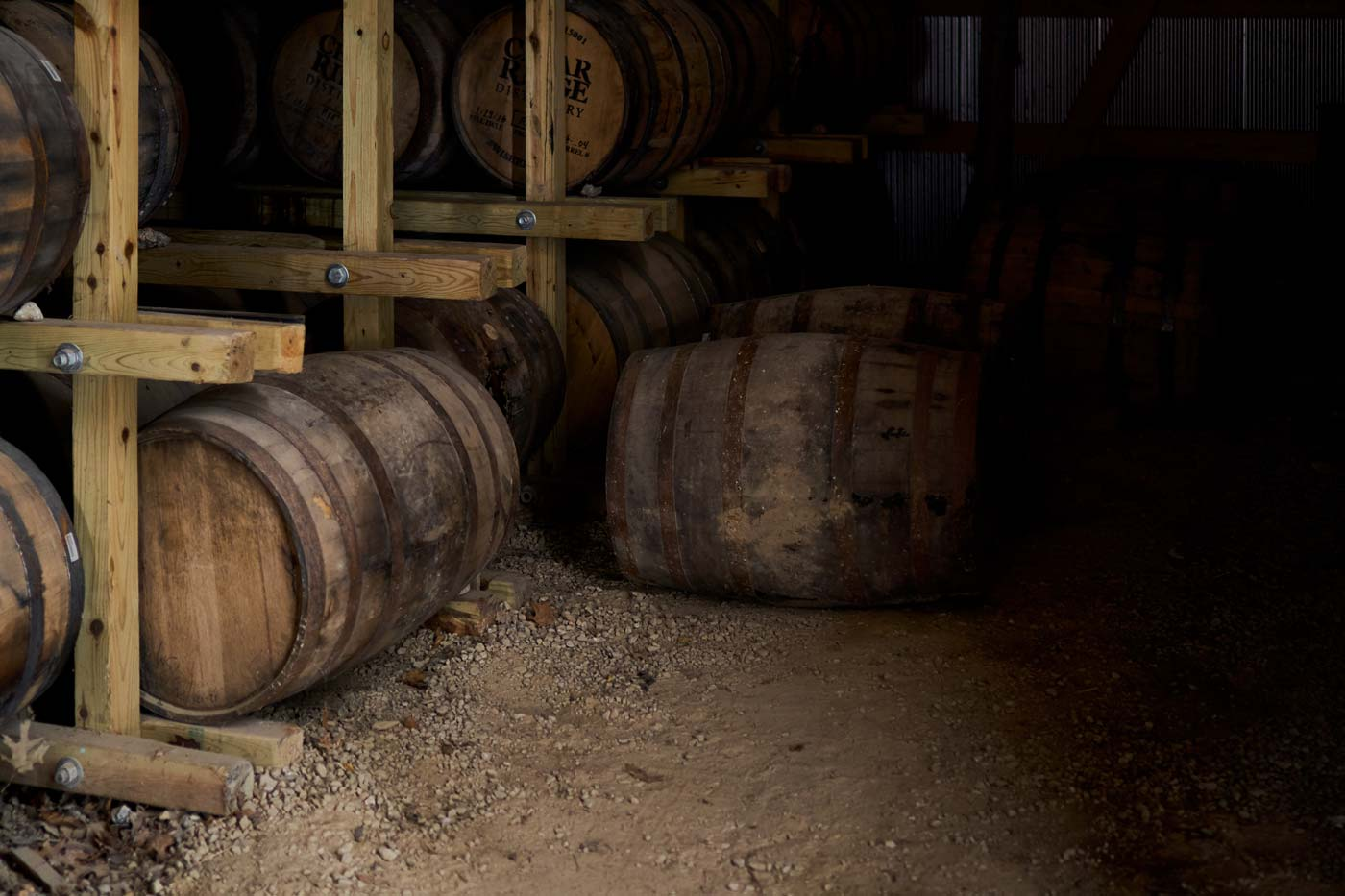 Cedar Ridge Whiskey barrels