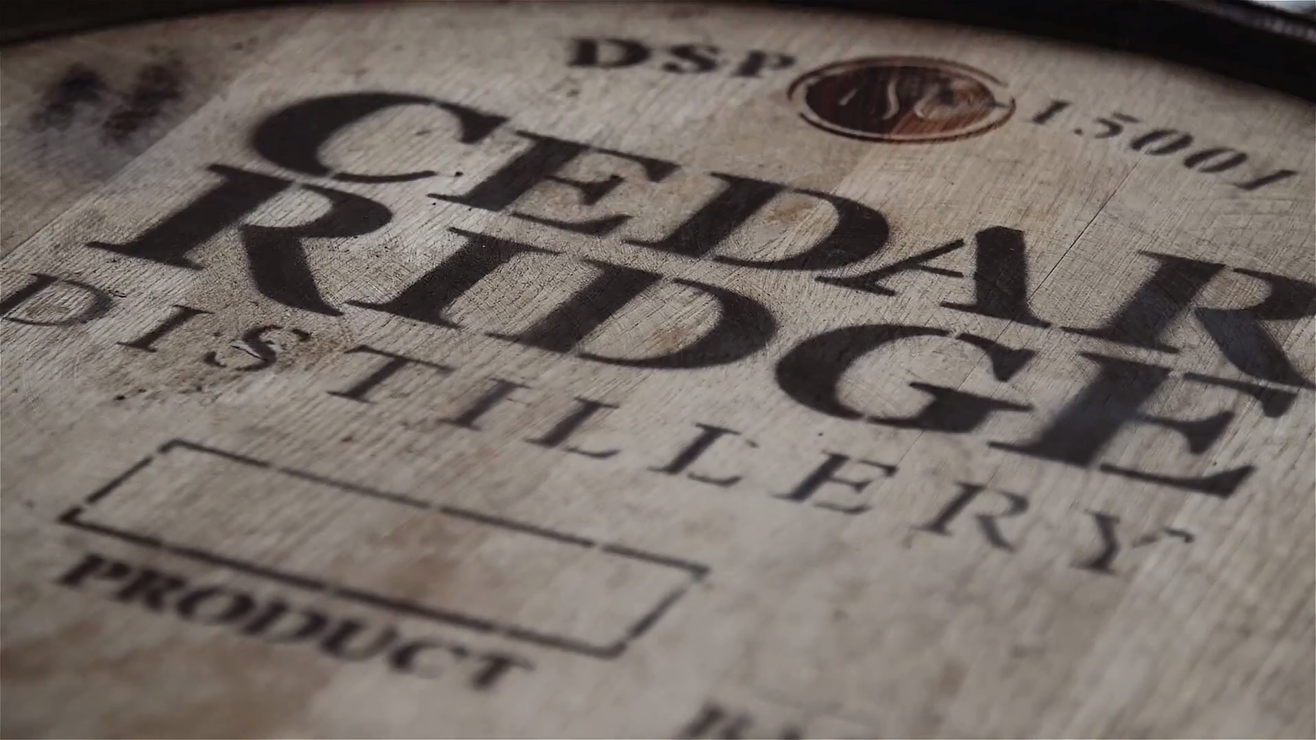 Cedar Ridge Whiskey barrel
